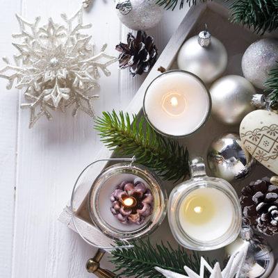 Simple DIY Christmas Table Display